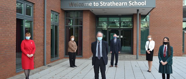 Education Minister Visits Strathearn School