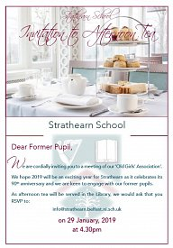 Afternoon Tea for Former Pupils of Strathearn